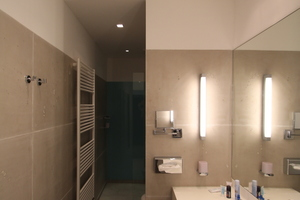 Blick in eines der Badezimmer