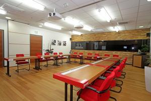 Schulungsraum: Die Denkhouse-Akademie bietet Weiterbildung für Inhaber, Verkäufer und Monteure von Handwerksbetrieben
