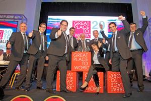 """Mitte Juni wurde Coplaning beim Wettbewerb """"Great Place to Work Europe"""" in Dublin als zweitbester Arbeitgeber Europas in der Kategorie kleine und mittlere Unternehmen ausgezeichnet; Roswitha Schmitz erhielt den """"Best People Practice Award"""""""