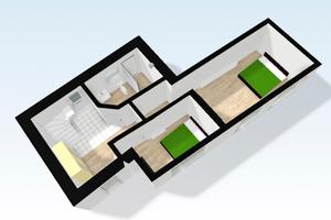 3D-Modell Erdgeschoss
