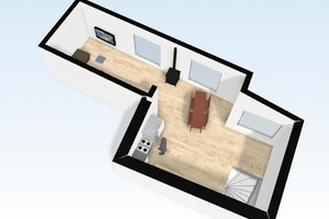 3D-Modell Obergeschoss