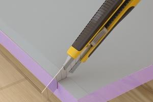 Mit dem Cuttermesser lassen sich die Platten zuschneiden Fotos: Jackodur<br />