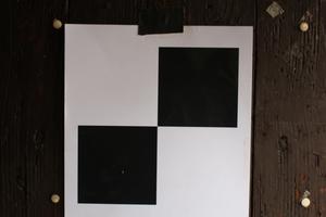 Messpunkt, der zum Ausrichten des Scanners nach dem Versetzen gebraucht wird
