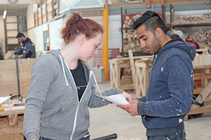 Kimberley will nach ihrer Ausbildung Bauingenieurswissenschaften studieren. Ihr ist es wichtig, vor dem Studium praktische Erfahrung am Bau zu sammeln