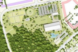 Geländeplan des Alnatura Campus