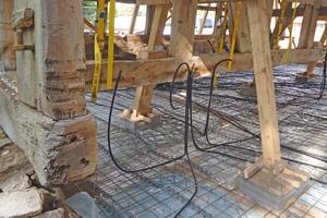 Für die Herstellung der neuen Bodenplatte aus Stahlbeton ist alles vorbereitet