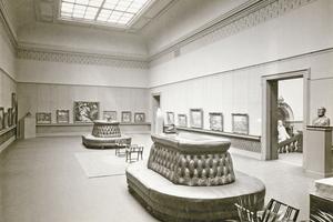 """So sah es im Museum kurz nach der Eröffnung im Jahre 1897 aus<span class=""""bildnachweis"""">Fotos (2): Archiv Kunstmuseum Krefeld</span>"""