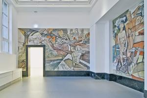 """Im so genannten Marmorsaal wurde das Wandgemälde """"Lebensalter"""" des Künstlers Thorn Prikker freigelegt"""