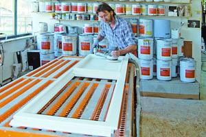 Fensterproduktion in der Werkstatt der Tischlerei Werner Windeler