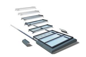 Das von Velux gemeinsam mit dem renommierten Architekturbüro Foster + Partners entwickelte Modulare Oberlicht-System verbindet ein dezentes und elegantes Design mit den Vorzügen vorgefertigter und einfach zu montierender Module
