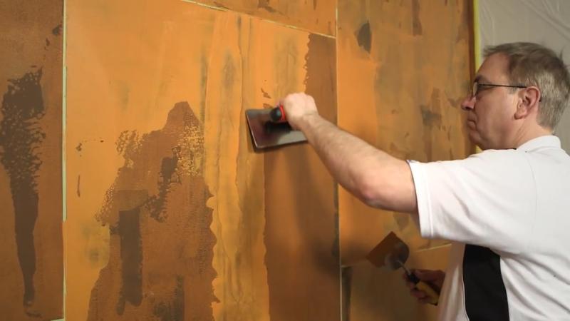 Wie Man Mit Spachtel Und Farbe Rost Optik An Die Wand Bringt