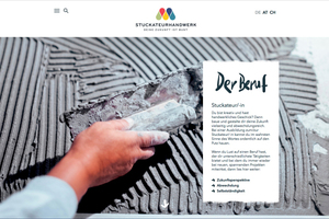 Die Website zeigt, welche Aufgabe Stuckateure in der Ausbildung und im Berufsalltag haben  Fotos: Brillux