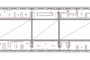 Grundriss zweites Obergeschoss, ohne Maßstab