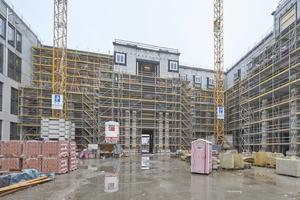 Zurzeit alles noch Baustelle: Blick in den Schlüterhof