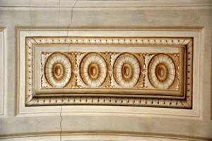 Die originale Freskomalerei aus dem Palazzo Pitti in Florenz
