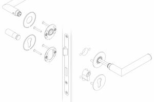"""Grundplatte und Deckel der Beschläge sind durch einen Magneten miteinander verbunden. Ein Demontagemagnet [1] hilft, den Deckel wieder abzunehmen <span class=""""bildnachweis"""">Zeichnung: Glutz</span>"""