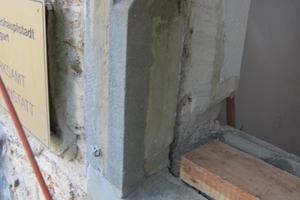 Nach dem Ausbessern mit neuem Mörtel, wurden die Gewände mit Dispersionssilikatlasur überstrichen
