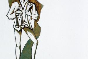 "Sgraffiti von Philipp Dott an Wohnhäusern in Koblenz<span class=""bildnachweis"">Fotos: Thomas Wieckhorst</span>"