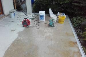 Untergrundvorbereitung für die Instandsetzung zum Beispiel mit Höchstdruckwasserstrahlen