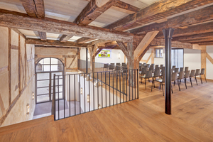 Das historische Holztragwerk blieb zu großen Teilen erhalten