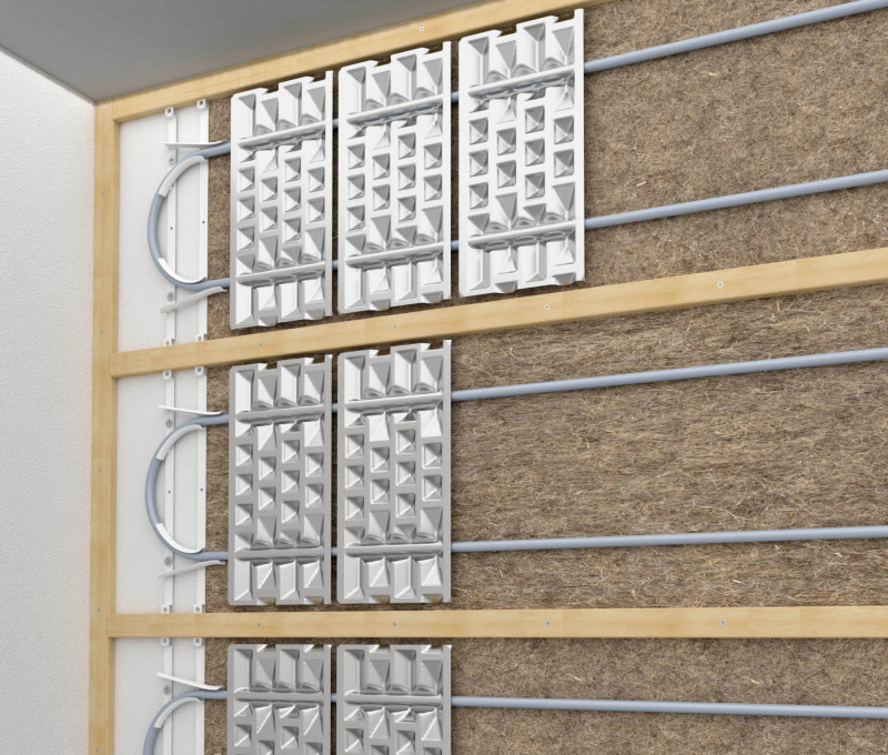 Fußbodenheizung Unter Trockenestrich Bauhandwerk: Wandheizung Unter Trockenbauplatten