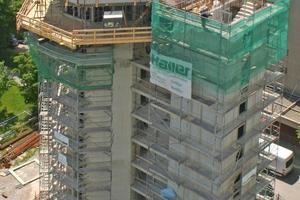 Mitte: Der Turm mit abgebrochenem Kopf<br />Foto: Rütgers Organics