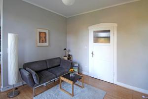 Wohnzimmer nach Abschluss der Lehmputzarbeiten