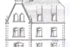 Skizze wie das Haus einmal aussah