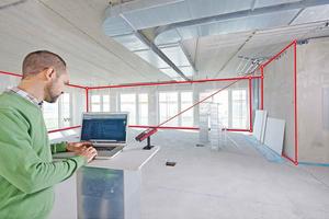 Aus den Winkel- und Distanzwerten werden 3D-Messpunktkoordinaten berechnet und direkt an das Aufmaßprogramm übergeben
