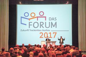 Das Forum Zukunft Trockenbau und Ausbau startete zum ersten Mal