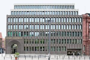Bild oben links: Neubau der Bremer Landesbank nach Plänen des Architekturbüros Caruso St JohnFoto: DBZ / Benedikt Kraft