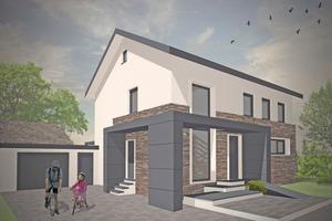So soll das Einfamilienhaus nach der Fertigstellung aussehen