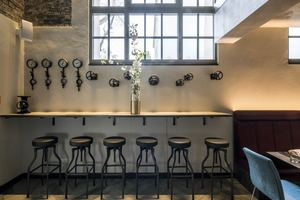 Bar im Restaurant des Hotels