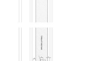 Detailschnitt Schiebetür