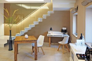 Das im Maisonette-Stil umgesetzte Appartement 1 bietet Komfort und Wohlfühlatmosphäre auf zwei Etagen