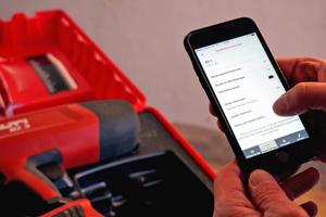 """Über Bluetooth kann man das """"BX 3"""" mit der Smartphone-App """"Hilti Connect"""" verbinden"""