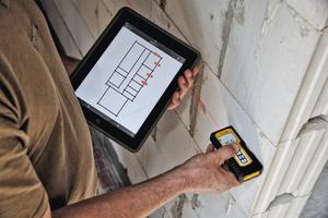 """Bluetoothfähige Laser-Distanzmessgeräte beschleunigen Arbeitsabläufe auf der Baustelle<span class=""""bildnachweis"""">Foto: Stabila Messgeräte</span>"""