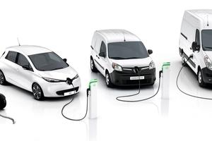 """Vom kleinen """"Twizy"""", der noch nicht einmal als Auto gilt, über den """"Zoe"""" bis hin zu den Nutzfahrzeugen """"Kangoo Z.E."""" und """"Master Z.E."""" – bei Renault läuft alles auch elektrisch <span class=""""bildnachweis"""">Foto: Renault</span>"""