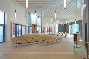 Sieger in der Kategorie Akustiksysteme wurde Germerott Innenausbau aus Gehrden für die Willehadi-Kirche in Garbsen