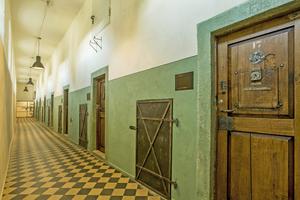 """<irspacing style=""""letter-spacing: -0.008em;"""">Rechts: Da die Handwerker die Fußbodenheizung im Erdgeschossflur im Putz an der Wand verlegten, blieb der ursprüngliche Bodenbelag aus Zementplatten </irspacing>erhalten"""