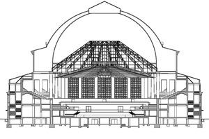 """Schnitt, Maßstab 1:750<span class=""""bildnachweis"""">Zeichnungen: Arge Symbiose HCC – Ertelt Laes Architekten und Woelk Wilkens Architekten</span>"""