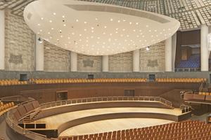"""Der Kuppelsaal des Hannover Congress Centrum (HCC) vor der Schwerpunktrenovierung <span class=""""bildnachweis"""">Fotos: Frank Aussieker</span>"""
