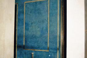 Wandflächen in Horn-stucktechnik im Neuen Herkulessaal, Münchner Residenz, 1953 – 1958