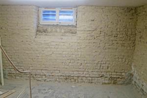 """Links: Echten Hausschwamm fand man auch im Mauerwerk hinter der Holzverkleidung<span class=""""bildnachweis"""">Fotos: Hans-Peter Beyer </span>"""