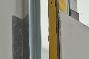 Eckausbildung der Strahlschutzwand in Trockenbauweise im Detail