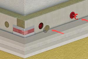 """Zahlreiche Komponenten bilden zusammen das Produkt WDVS. Das Beispiel zeigt den Systemaufbau der """"KickFassade"""" von Baumit"""