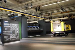 Im neuen Showroom von Streetscooter kann man sich ausführlich über den E-Transporter und Hintergründe zu seiner Entwicklung informieren