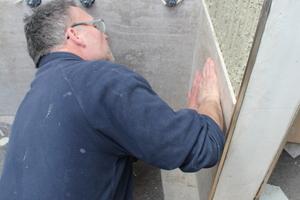 Die meisten Wände wurden so gesetzt, dass keine Fliesen geschnitten werden mussten<br />