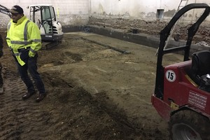 Beim Bau des Kellers kam unter der ersten Bodenplatte noch eine zweite zum Vorschein<br />
