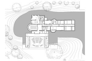 Grundriss Erdgeschoss, Maßstab 1:500⇥Abbildungen: Atelier Kempe Thill
